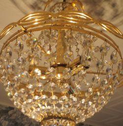 Chandelier crystal, classic, made in Belgium
