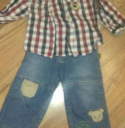 Set of jeans + shirt