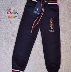 Новые Polo штаны с начeсом 4-5 лет.