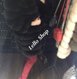 Fur coat 90cm with full sleeve