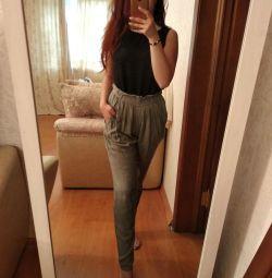 Летние женские брюки чинос штаны L