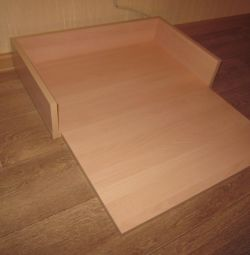 Folding table on changing table
