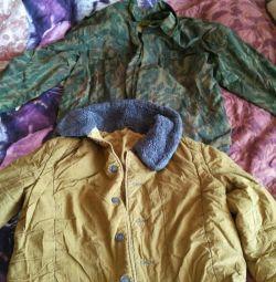 Pea jacket with undercoat