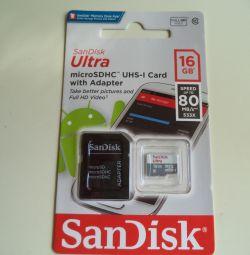 Κάρτα μνήμης Micro SD 16 GB