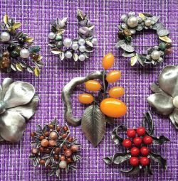 Large brooches