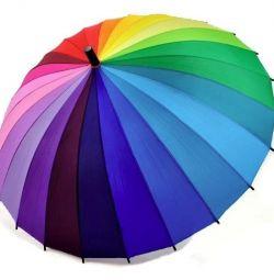 Ομπρέλα Γυναικών Rainbow 24 χρώματα νέα