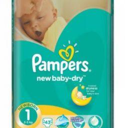Scutece Pampers nou-uscat pentru bebelusi 1