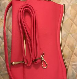 Καλοκαιρινή τσάντα (21 * 29) με κοντό και μεγάλο λουρί