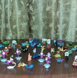Surprise kindr toys 65 pcs.