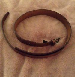 Leather belt Mango