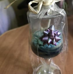Candle in a gift box