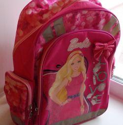 Рюкзак школьный розовый «Барби»