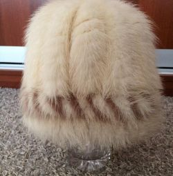 Hat. Knitted Mink