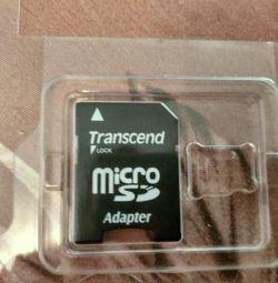 Адаптер transcend lock microsd adapter новий