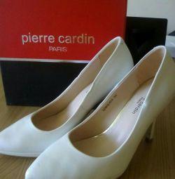 Pantofi albi Pierre Cardin