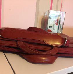 Τσάντα για φορητό υπολογιστή (δέρμα).