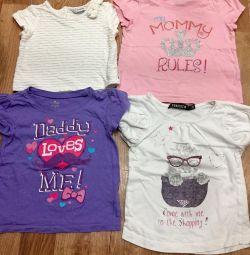 100-150₽ kızlar için tişörtler