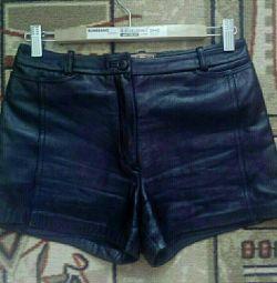 Genuine Leather Shorts