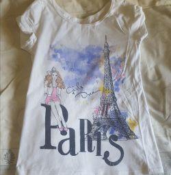 Kızların büyümesi için tişört 146-152
