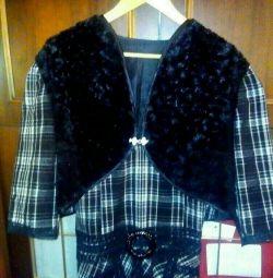 Ζεστό φόρεμα + μπολερό γούνας
