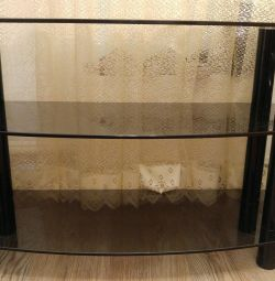 Curbstone under the TV glass, 80 cm, height 58 with
