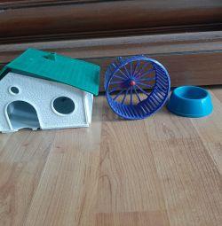 Hamster σπίτι και τροφοδότης