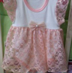 Φόρεμα για το κομψό κορίτσι 62cm