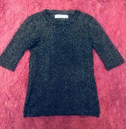 Kırpılmış kazak / simli ceket