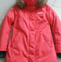 Down jacket with natural fur, excellent quality.