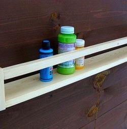 Raft de perete în lemn