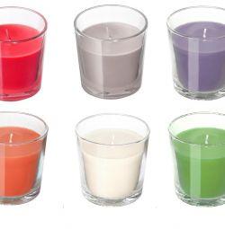 Lumanare aromatică în sticlă Înălțime: 7,5 cm Suedia