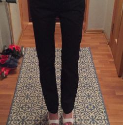 Straight Black Mango trousers