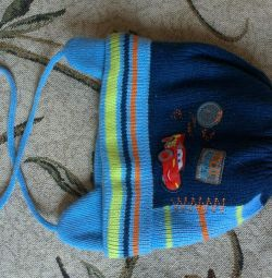 Теплая шапка на мальчика р.50-52