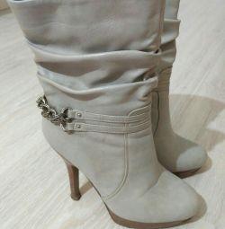 Çizme 36 beyaz ve gri