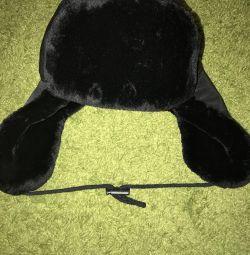Ushanka kışlık şapka 54-56 yeni