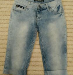 Бриджи джинсовые, 27 размер