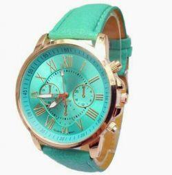 Часы наручные новые зеленые женские