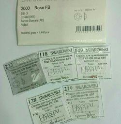 SWAROVSKI rhinestones set 1900pcs SS3-SS5