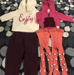 Tights, pants, sweatshirt and blouse (package)