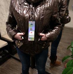Зимова Нова стильна куртка жіноча золота
