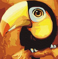 Papagal pentru desen după numere 30/40 cm