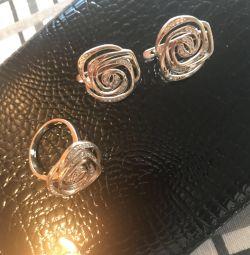 Set inel de aur inel