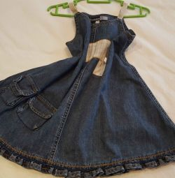 Denim sundress.