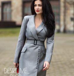 Dress-jacket with belt
