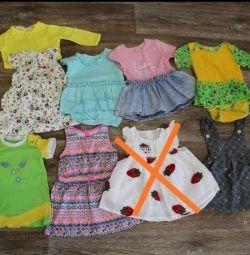 Un pachet de lucruri pentru o fată de 6-12 luni