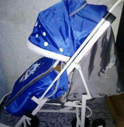Scaun cu rotile nou Sled RAINBOW (albastru).