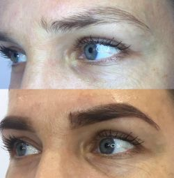 Eyebrows Henna, Laminating eyelashes, Microblazing