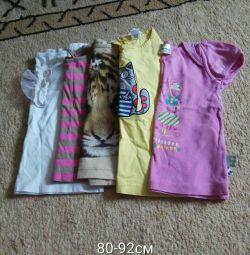 Μπλούζες για 80-92 εκ