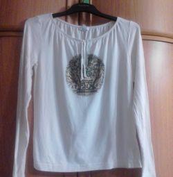 Bluză elegantă, ușoară și albă (Escada sport)