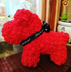 Bears and dogs from 3d roses.